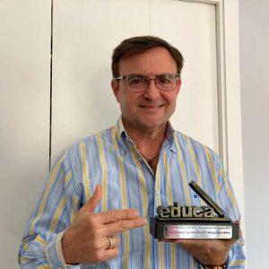 Santiago Agüero premio Educa Abanca